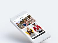 Eshop home mobile mockup