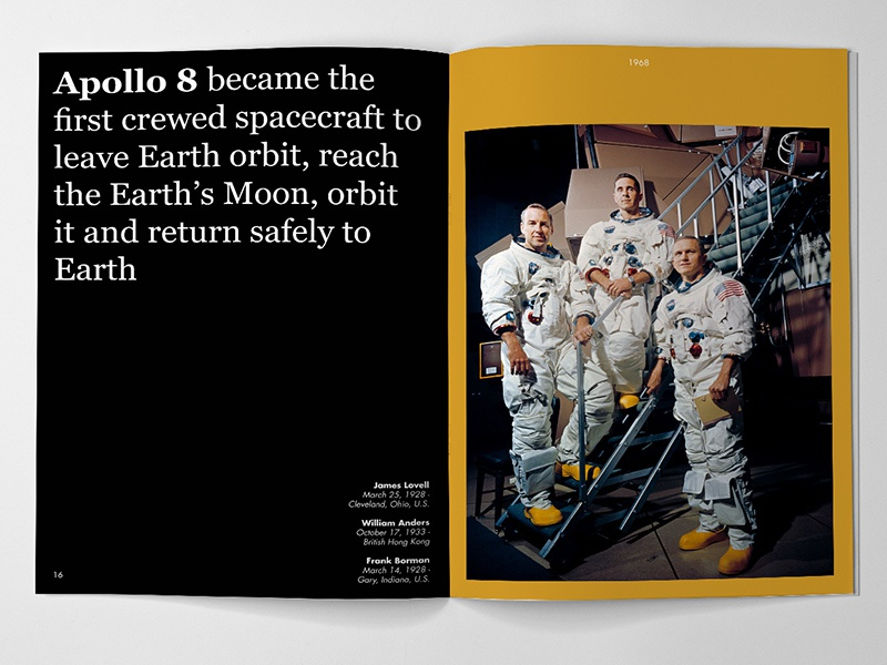 In Presence Of The Moon Nobody Sees Stars astronaut mockup moon apollo nasa space edition editorial design print book