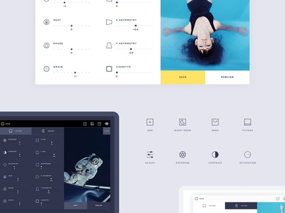 VSCO desktop App - Free .PSD free icons icons psd free psd freebie instagram settings dashboard photography ui ux vsco