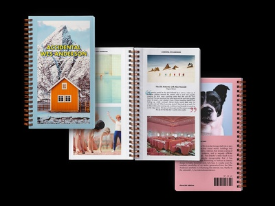 Accidental Wes Anderson futura pink blue layout typography dog photography print subreddit reddit wes anderson accidental wes anderson