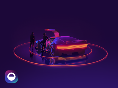 Radically better future futuristic bold bright cyber neon vivid cars vehicles characters design illustration