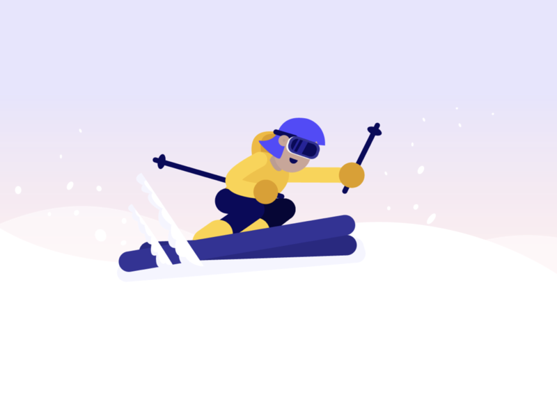 Going skiing? flat insurance winter cold simple clean interface simple sports skiing ski travel branding vector illustration design characters
