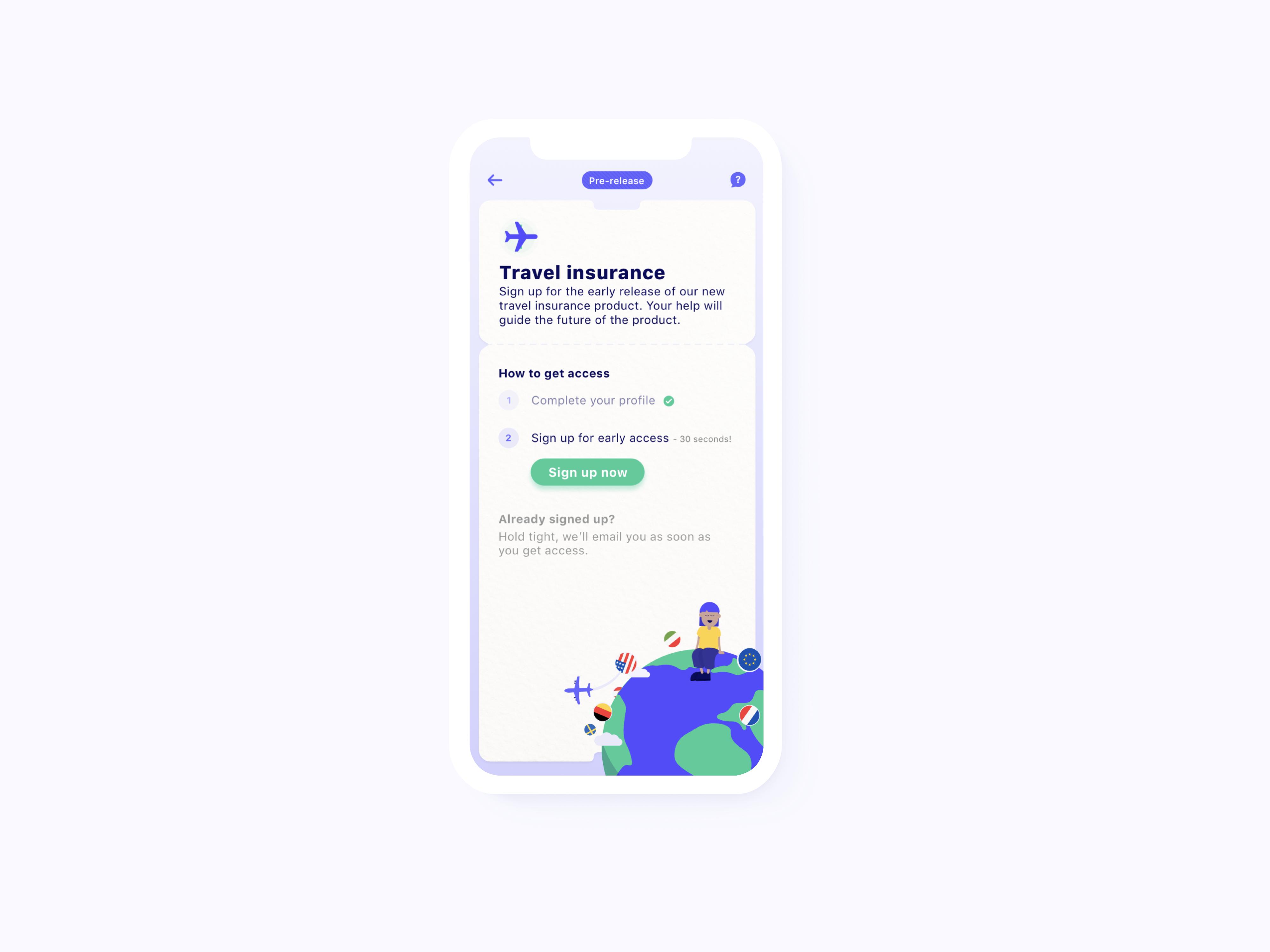 Travel launch in app