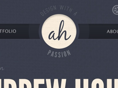 Site Preview blue tan logo navigation texture