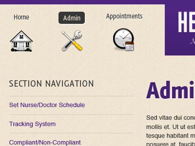 Health Services App texture app purple icons