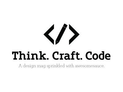 Think Craft Code - Logo V1 logo bw think craft code