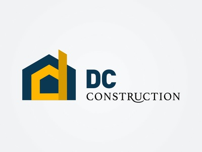 DC Construction house construction logo