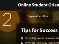 Online Student Orientation Preview