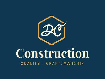 DC Construction handscript craftsmanship construction logo