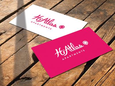 HiAtlas Logo pink apartments handwritten logo