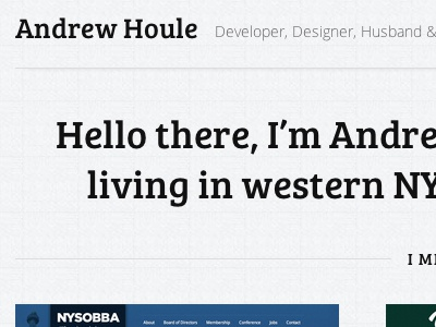Personal Site v2 subtle texture personal site responsive