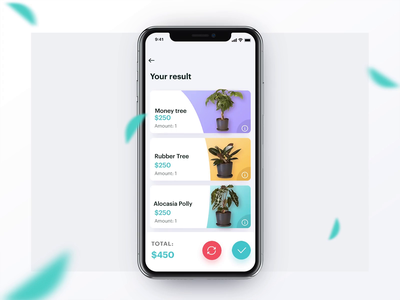 Office Plant Assistant App assistant slider iphone refresh planning plants interface picking flow settings wizard yellow blue violet react native ios12 illustration animation app ux ui
