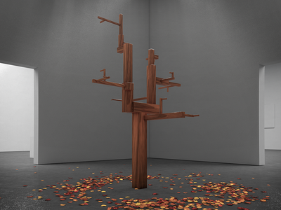 Tree physical render c4d abstract tree