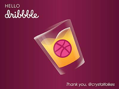 Hello Dribbble Shot Glass
