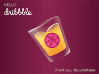 Hello Dribbble Shot Glass