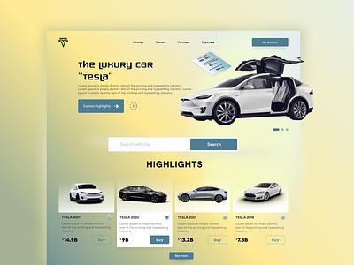 TESLA Landing Page | Header Design responsive web design car header design landing page design minimalistic website design webdesign tesla web design branding ui design ui design