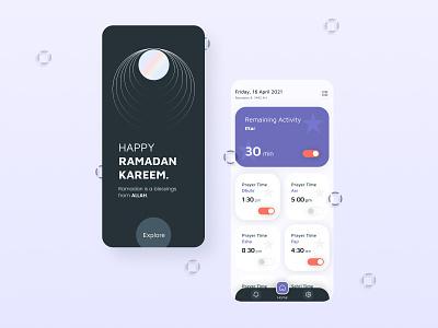 Ramadan Reminder Mobile App UI Design mobile responsive ramadan app design ramadan mubarak ramadan kareem mobile design mobile ui mobile app design mobile app ui design ui design