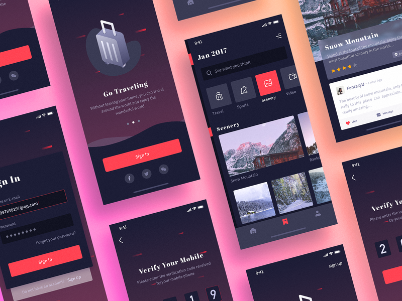 Collection of curious interface logo ux icon app ui design