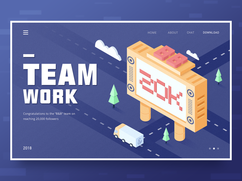 Congratulations to the B&B team web illustration design