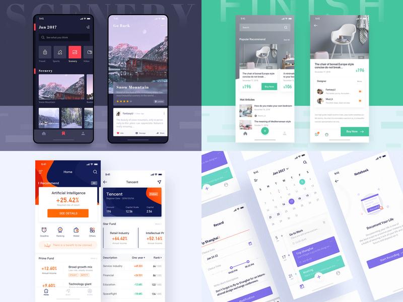 2019-TOP 4 logo ux icon ui app design
