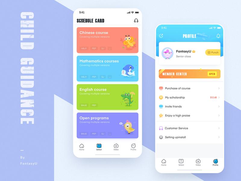 child guidance-2 animation ui app design