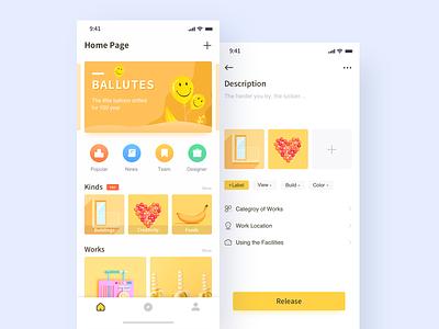 Photos View-1 design illustration app ui