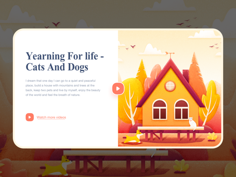 House illustrations-2 design web ux ui