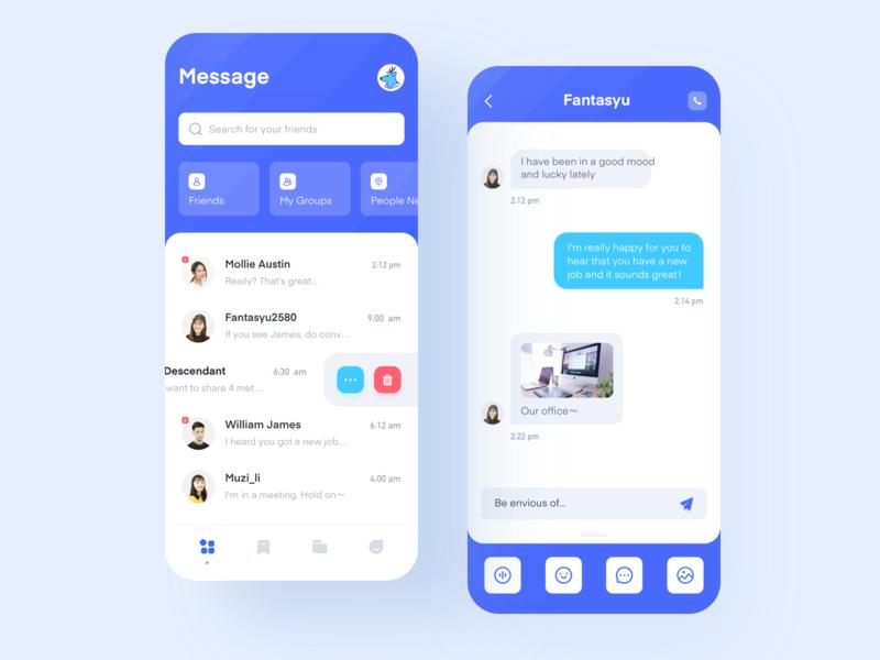 Chat Software-1 app illustration design ux ui