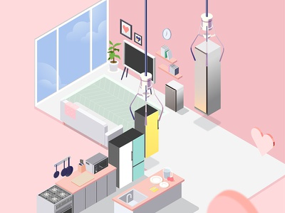Isometric House vector game marriage interior house isometric illustration isometric design illustation