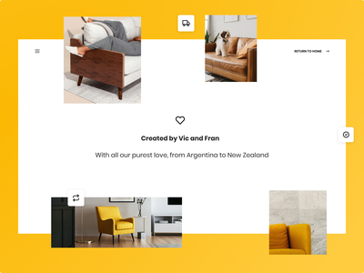 Home&We - About us Page interactions webflow furniture ecommerce about us ui product design figma design