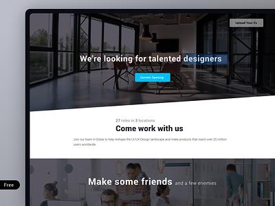 Career Page Design Free Template freebie ui webdesign careers page career
