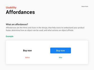 Usability terms Affordances affordances usability uxdesignmastery uxdesign