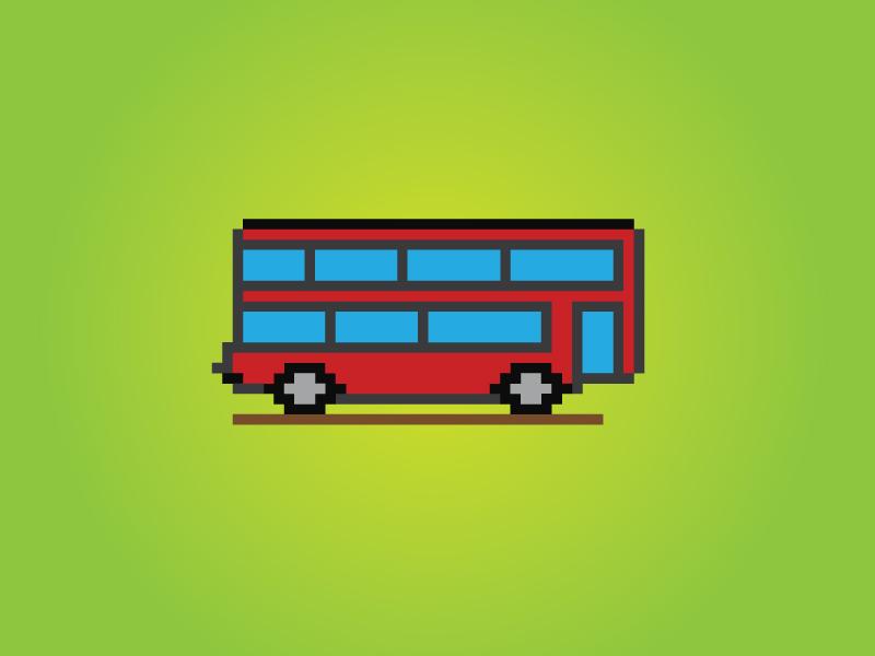 8 Bit London Bus kingdom united britan tourism uk bus london