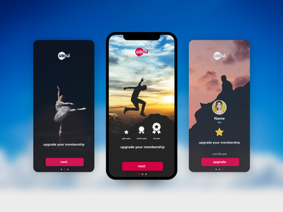 Membership Upgrade ui ux app mobile adobe xd