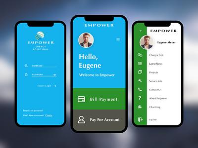 Empower Mobile app design