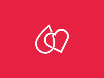 Blood Donation app logo design logo app digital
