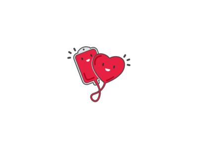 Blood Donation app logo design logo app digital  flat