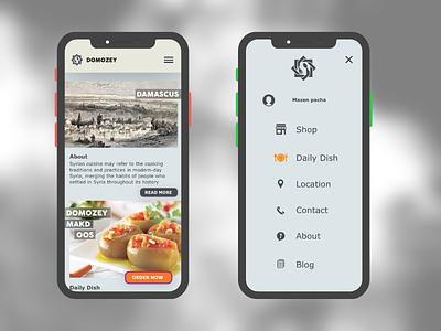 Domosey Resturant Mobile website logo mobile design mobile ui  ux