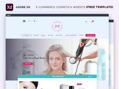 E-commerce Cosmetics Website (3 FREE TEMPLATE) freebie free cosmetic webdesign e-commerce