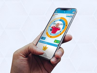 Kids education monitoring app minimal website flat logo web app icon typography ux ui