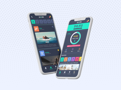 Fitness & rewards App design minimal website flat web app icon typography ux ui branding