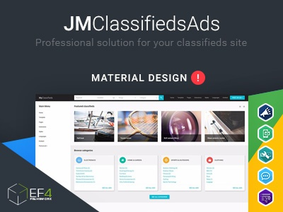 Material Design Joomla Template Clifieds