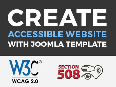 Make an accessible website with WCAG 2.0 Joomla template. by Joomla ...
