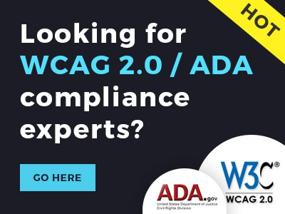Work with WCAG 2.0 experts only. web design web accessibility 508 ada wcag