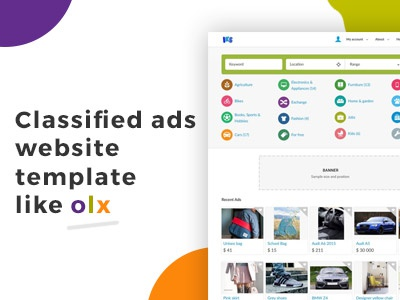 Classified ads website template software like OLX by Joomla-Monster