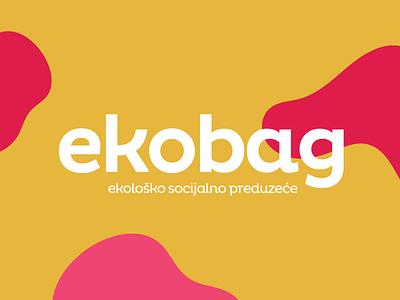 Ekobag recycling red pink trajlov yellow colours logo bags eko