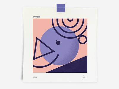 Perm emojis emo triangle art logo adobe illustrator lines shape form hair emoji purple project circle design colors illustration trajlov