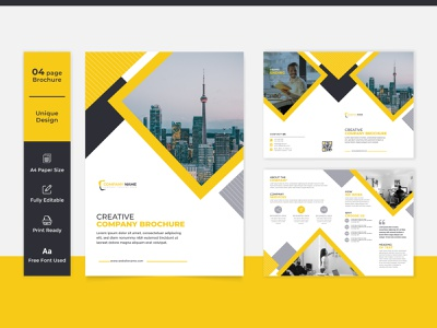 Corporate Brochure Profile Template bi fold bi fold brochure corporate profile design corporate profile profile design corporate brochure design corporate brochure brochure layout brochure template brochure design brochure