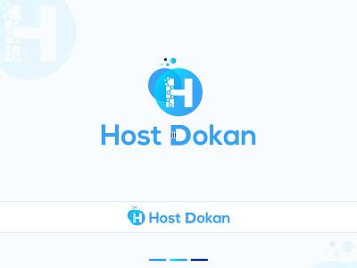 Logo Design - Host Dokan icon design logo company brand logo company branding company logo illustration brand identity brand design branding logo design branding logo designs logo design concept logo design