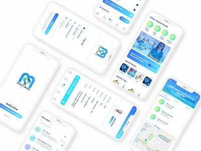 Doctors Mobile App Design interface design interface ux ui app design mobile ui mobileappdesign mobileapp mobile apps design mobile apps ux ui design ui design